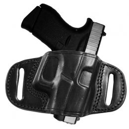 Tagua Gunleather Quick Draw Leather Belt Holster Glock 42 Right Hand Black  BH2-305