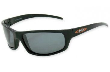 Sos Polar Max / Hammerhead Sunglasses, Frame - Shiny Black, Lens - Tac Polarized Smoke 1.0mm