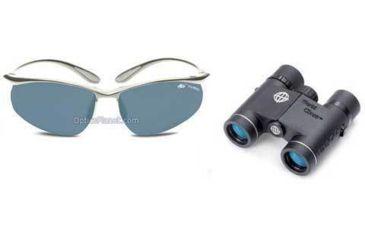 2-PC Boating Essentials Gift Package - Tasco WC 10x25 Waterproof Binoculars WC1025, Bolle Kicker Action Sport Sunglasses 10096