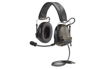 3M Peltor ComTac Electronic Headset, FB Single Comm NATO, Olive Drab MT17H682FB47GN
