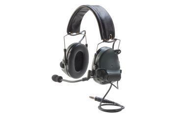 3M Peltor ComTac Electronic Headset, FB Single Comm NATO, Foliage Green MT17H682FB47FG