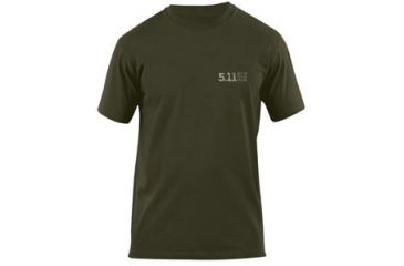5.11 Tactical 40088B-182 Logo Tee Bolt Action OD Green front