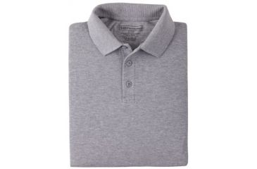 5.11 Tactical 42056 Professional Polo, Long Sleeve - Heather Grey, Medium