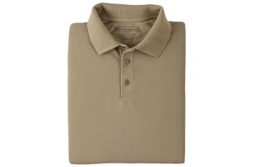 5.11 Professional Polo, Long Sleeve 42056, Shirt Style: Polo, Color: Silver Tan, Sleeve Type: Long Sleeve