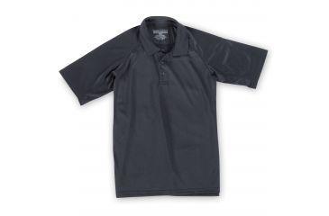 5.11 Tactical Men's Performance Polo Shirt, Short Sleeve, Polyester Synthetic Knit, Black, 3XL 71049T-19-XXXL