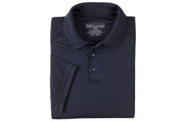 5.11 Tactical Men's Performance Polo Shirt, Short Sleeve, Polyester Synthetic Knit, Dark Navy, 3XL 71049T-724-XXXL