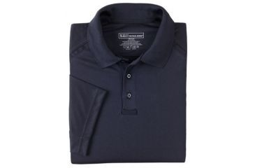 5.11 Tactical Men's Performance Polo Shirt, Short Sleeve, Polyester Synthetic Knit, Dark Navy, L 71049T-724-L