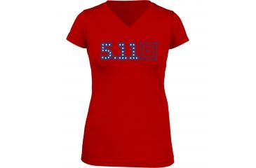 5.11 Tactical Miss Independence T-Shirt, Red, L 31004AG-460-L