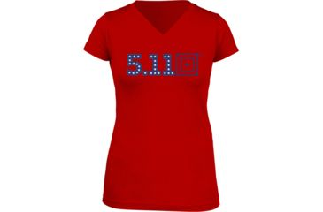 5.11 Tactical Miss Independence T-Shirt, Red, XL 31004AG-460-XL