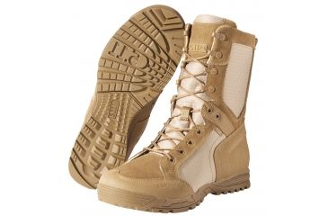 5.11 Tactical Recon Desert 2.0 Boots, Dark Coyote Width R, Size 4 11011-106-4-R
