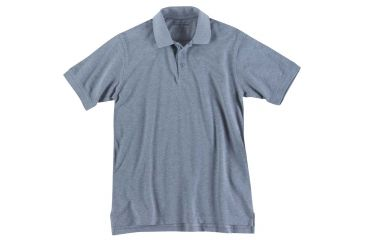 5.11 Tactical 41060T Professional Polo, Short Sleeve, Tall, Heather Grey, 5XL