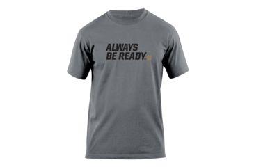 5.11 Tactical Always Be Ready Logo T Shirt - Charcoal - S 41006AZ-018-S