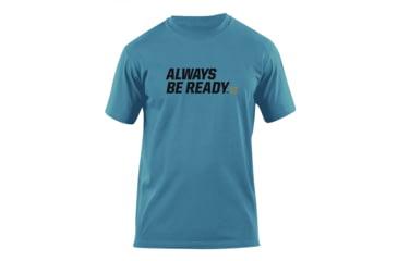 5.11 Tactical Always Be Ready Logo T Shirt - Mineral Blue - L 41006AZ-766-L