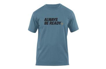 5.11 Tactical Always Be Ready Logo T Shirt - Mineral Blue - S 41006AZ-766-S