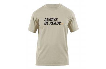 5.11 Tactical Always Be Ready Logo T Shirt - Tan - XXL 41006AZ-170-XXL