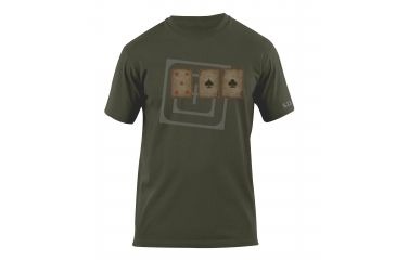 5.11 Tactical Card Tricks Logo T Shirt - Od Green - XL 41006AG-182-XL