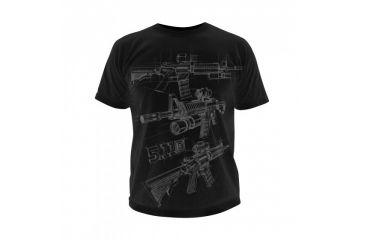 5.11 Tactical Logo T Shirt Sleeve Ar Sketch, Black, L 41006CD-019-L