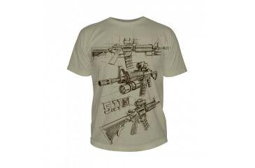 5.11 Tactical Logo T Shirt Sleeve Ar Sketch, Tan, L 41006CD-170-L