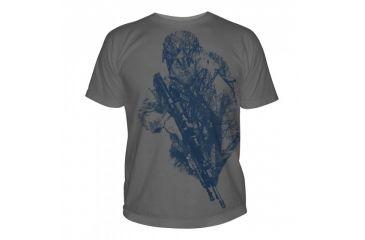 5.11 Tactical Logo T Shirt Sleeve Hidden Hunter, Charcoal, XL 41006CB-018-XL