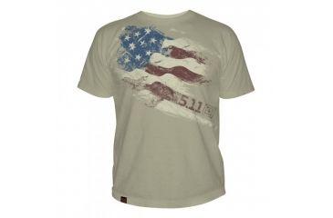 5.11 Tactical Logo T Shirt Sleeve Still There, Tan, L 41006CG-170-L