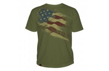 5.11 Tactical Logo T Shirt Sleeve Still There, Od Green, L 41006CG-182-L