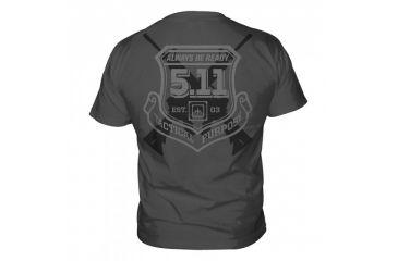 5.11 Tactical Logo T Shirt Sleeve Victor, Charcoal, L 41006CJ-018-L