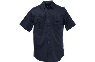 5.11 Tactical Mens Response Uniform Shirt, Short Sleeve - Fire Med Blue - L 46113-696-L