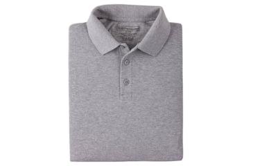 5.11 Tactical Short Sleeve Utility Polo Shirt - Heather Grey, Size  M 41180-016-M