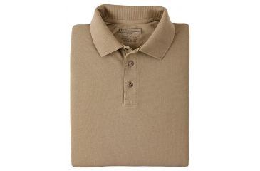 5.11 Tactical Short Sleeve Utility Polo Shirt - Silver Tan, Size  XL 41180-160-XL