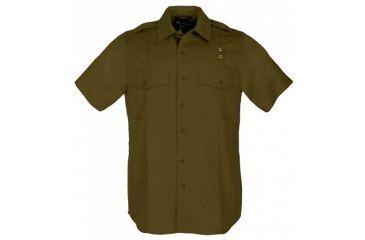 5.11 Tactical Taclite PDU Short Sleeve A-Cl Shirt, Brown, L 71167-108-L-R