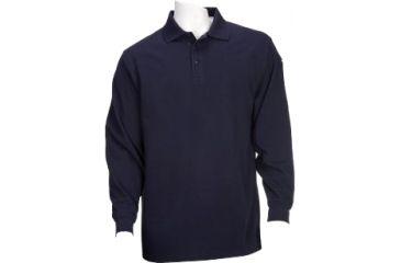 5.11 Tactical Utility Long Sleeve Polo Shirt - Dark Navy - S 72057-724-S