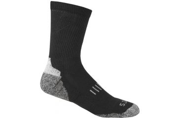 5.11 Tactical Year Round Crew Sock - Black, Size  S/M 10014-019-S/M