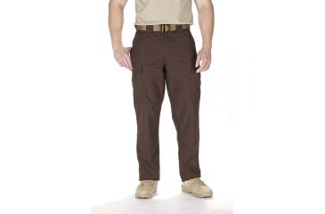 5.11 Tactical TDU Adjustable Ripstop Men's Pants, Brown, Extra Small - 23.5-27in Waist, Short 29.5in Inseam