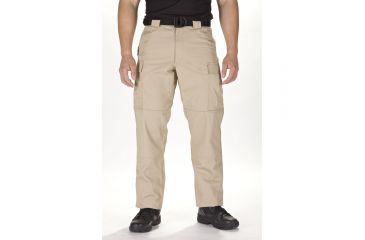 5.11 Tactical TDU Adjustable Ripstop Men's Pants, TDU Khaki, Extra Small - 23.5-27in Waist, Short 29.5in Inseam