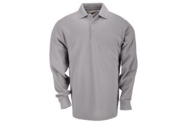 5.11 Professional Polo, Long Sleeve, TALL, Heather Grey