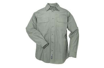 5.11 Tactical Pro Shirt Long Sleeve, Cotton 72157, Green, Size XS GREEN-XS