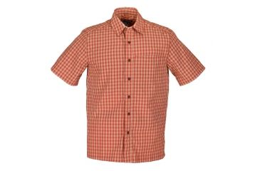 5.11 Tactical Covert Casual Shirt S/S Plaid, Burnt Orange