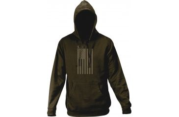 5.11 Tactical Men's Tonal Stars and Stripes Hoodie, Anthracite, XL 42182AC-23-XL