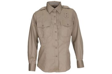 5.11 Women's Class B Long Sleeve PDU Shirt, Silver Tan
