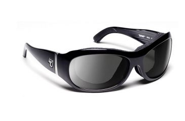 7 Eye Briza Glossy Black SharpView Gray Sunglasses 310541