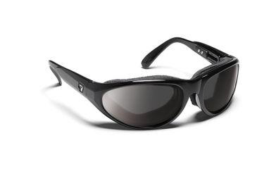 7 Eye Diablo Panoptx Cyclone Foam Sunglasses, Glossy Black Frame, SharpView Gray Lens 170541