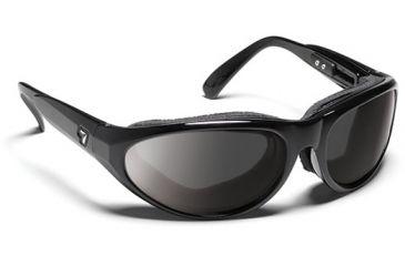 7 Eye Diablo- SharpView Polarized Copper Sunglasses, Glossy Black, M-L 170554