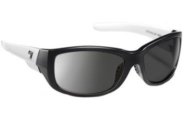 7 Eye Dillon Casual Street Sunglasses, Ebony & Ivory Frame, Polarized Gray NXT Lenses 865956