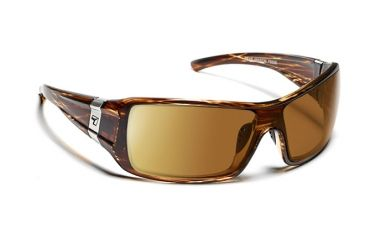 7 Eye Mason Sunglasses, Sunset Tortoise Frame, SharpView Polarized Copper PC Lens 850654