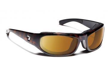 7 Eye Whirlwind Sunglasses, Dark Tortoise Frame, Sharp View Copper Lens 120642