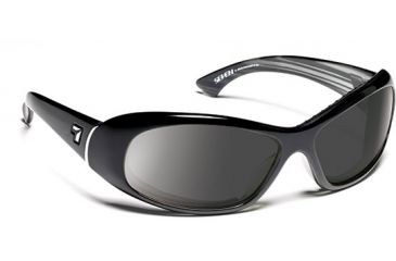 7 Eye 7eye Air Dam Sunglasses Zephyr, Sharp View Clear Lens, Glossy Black Frame, S-M , Women 560540