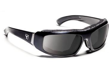 7 Eye 7eye Air Shield Sunglasses Bali, Sharp View Gray Polarized PC Lens, Glossy Black Frame, M , Men 180553