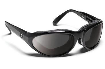 7 Eye 7eye Air Shield Sunglasses Diablo, Sharp View Gray Polarized PC Lens, Glossy Black Frame, L-XL , Men 170553