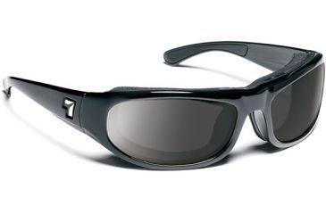 7 Eye 7eye Air Shield Sunglasses Whirlwind, Sharp View Clear PC Lens, Glossy Black Frame, L , Men 120540