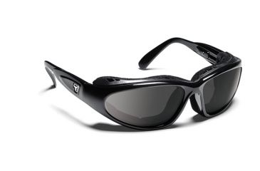7eye 190541 Cape Airshield Glossy Black Rx Progressive Frames